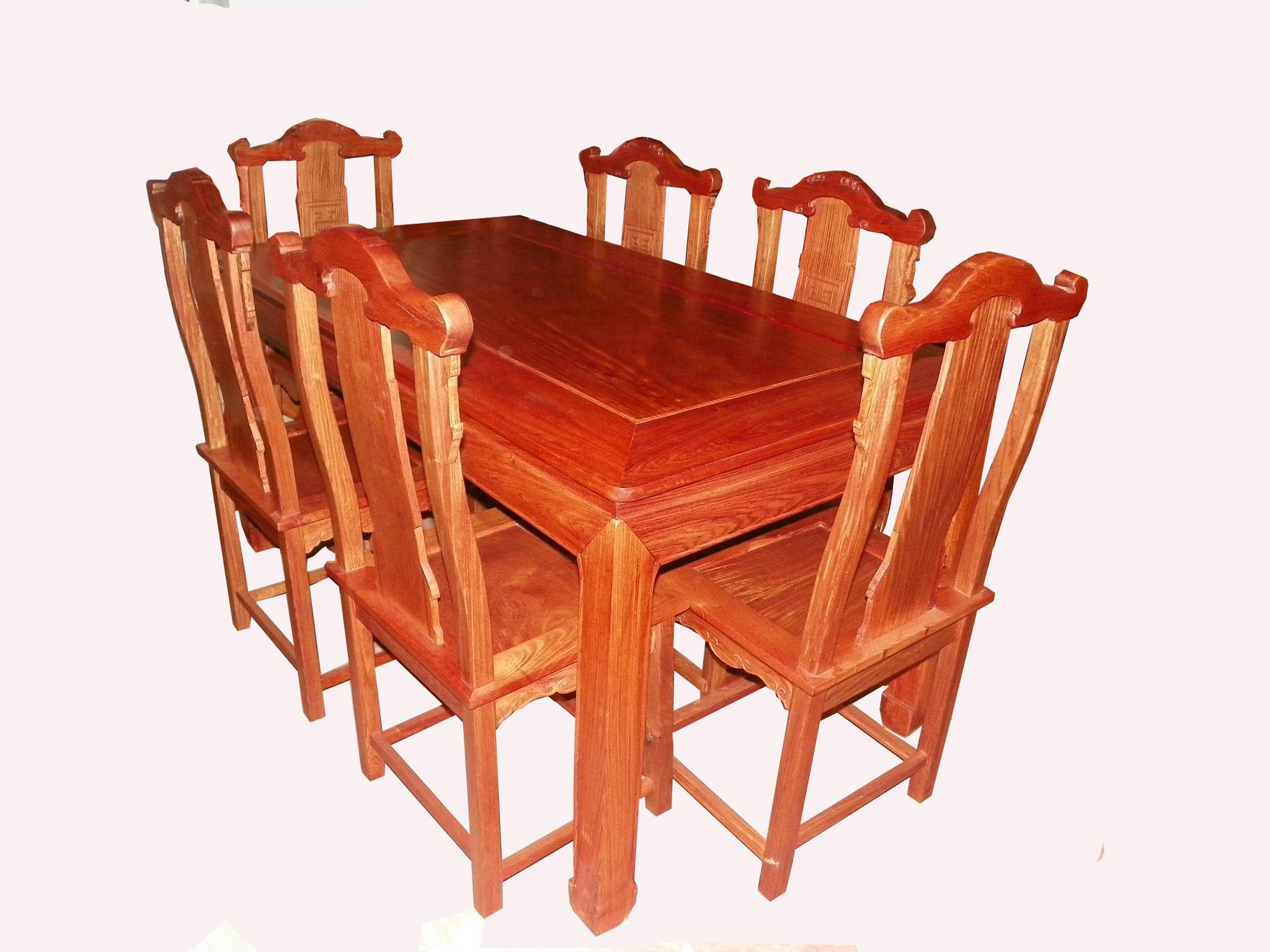 缅甸花梨木长方形餐台